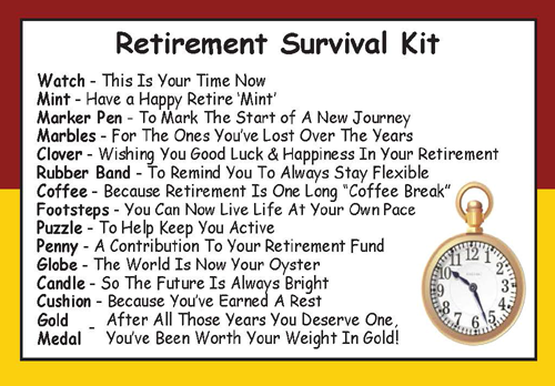 Retirement Survival Kit In A Can